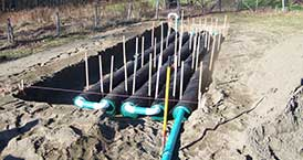 Excavation With Septic System Installation